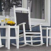 original jefferson schaukelstuhl mit geflochtenem sitz casa bruno. Black Bedroom Furniture Sets. Home Design Ideas
