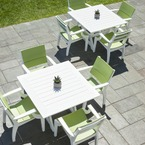 SYM envirowood dining furniture, available in 18 colours