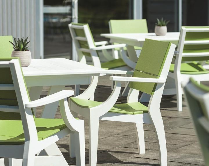 sym muebles comedor fabricados de polymadera disponibles en colores