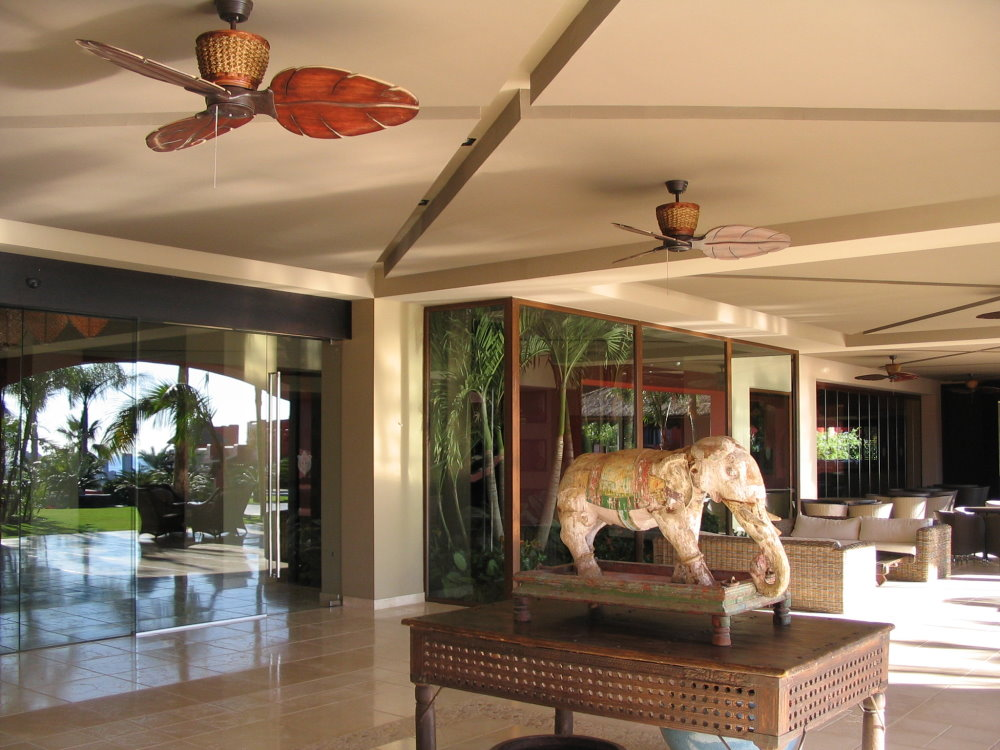 Outdoor furniture and ceiling fans in unlimited variations for treventi ceiling fan in tropical colonial style rust finish with handcarved wooden blades aloadofball Choice Image