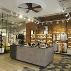 Irene Hugger Design ceiling fan, GEOX-X Store Madrid