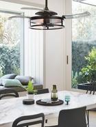 Fanaway Classic ventilador de techo con aspas retráctiles, disponible en bronce oscuro