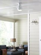 Hugh ventilador de techo, disponible en níquel cepillado, bronce oscuro y blanco