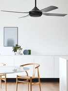 Moonah ventilador de techo, disponible en negro, plata y blanco