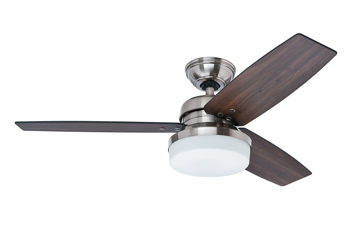 Galileo ceiling fan 122 cm with light brushed nickel 246 galileo ceiling fan 122 cm with light brushed nickel mozeypictures Images