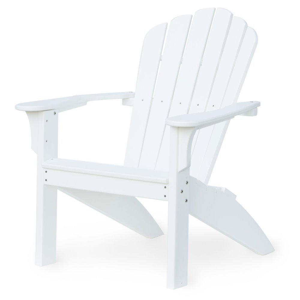 ... White Mallorca Adirondack Chair, HDPE Plastic Lumber, ...