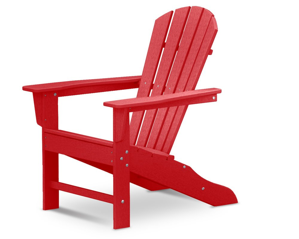 polywood adirondack chair liegestuhl mit fussteil rot. Black Bedroom Furniture Sets. Home Design Ideas