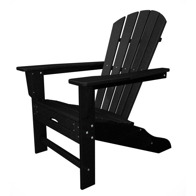 Polywood Adirondack Chair Liegestuhl Mit Fussteil Schwarz