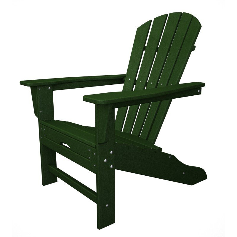 Astounding South Beach Ii Ultimate Adirondack Chair W Hideaway Ottoman Hdpe Plastic Lumber Dark Green Gmtry Best Dining Table And Chair Ideas Images Gmtryco