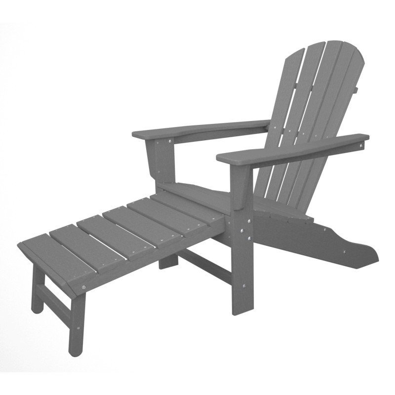polywood adirondack chair liegestuhl mit fussteil grau. Black Bedroom Furniture Sets. Home Design Ideas