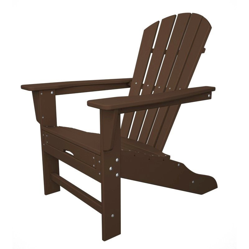Polywood Adirondack Chair Liegestuhl mit Fussteil, mahagoni braun ...
