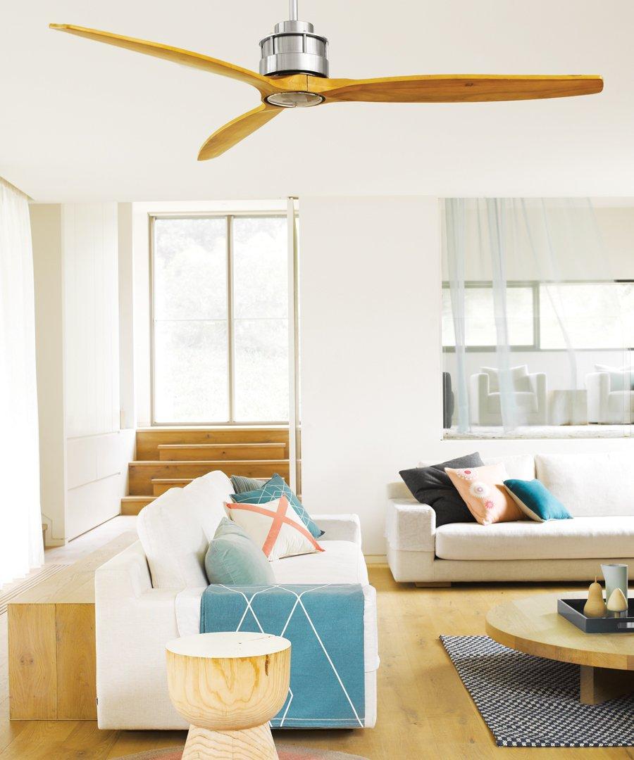 Akmani dc ventilador de techo 152 cm bronce antiguo acacia - Ventiladores de techo antiguos ...