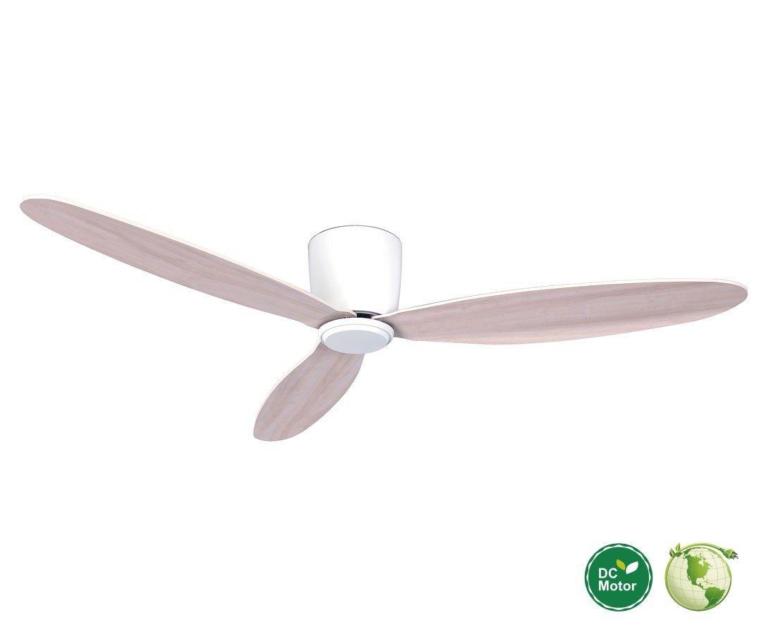 Energy saving ceiling fan for low ceilings casa bruno ceiling radar hugger dc ceiling fan 132 cm white ideal for low ceilings aloadofball Images
