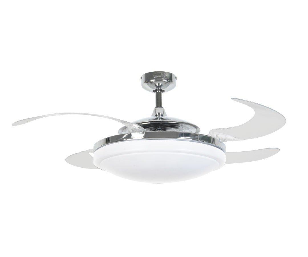 Fanaway evo ceiling fan with retractable blades chrome 29925 euro fanaway evo ceiling fan with retractable blades chrome aloadofball Gallery