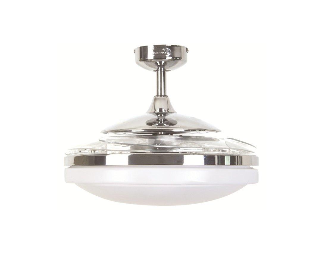 Fanaway evo ceiling fan with retractable blades chrome 29925 euro chrome fanaway evo ceiling fan with retractable blades aloadofball Image collections