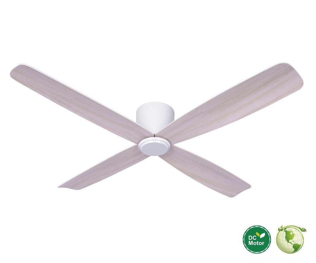 Fraser hugger dc ceiling fan 132 cm white ideal for low ce fraser hugger dc ceiling fan 132 cm white ideal for low ceilings aloadofball Image collections