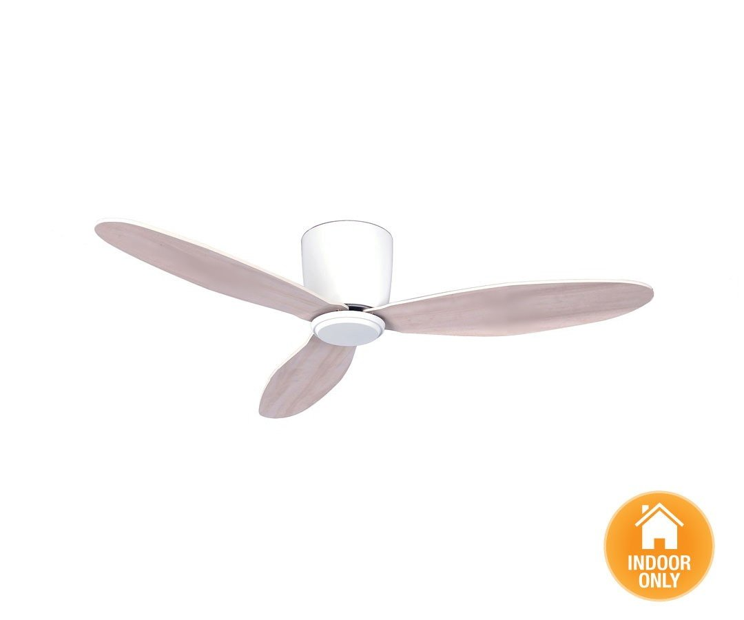 Beautiful Radar Hugger DC Ceiling Fan Ø 107 Cm, White, Ideal For Low Ceilings