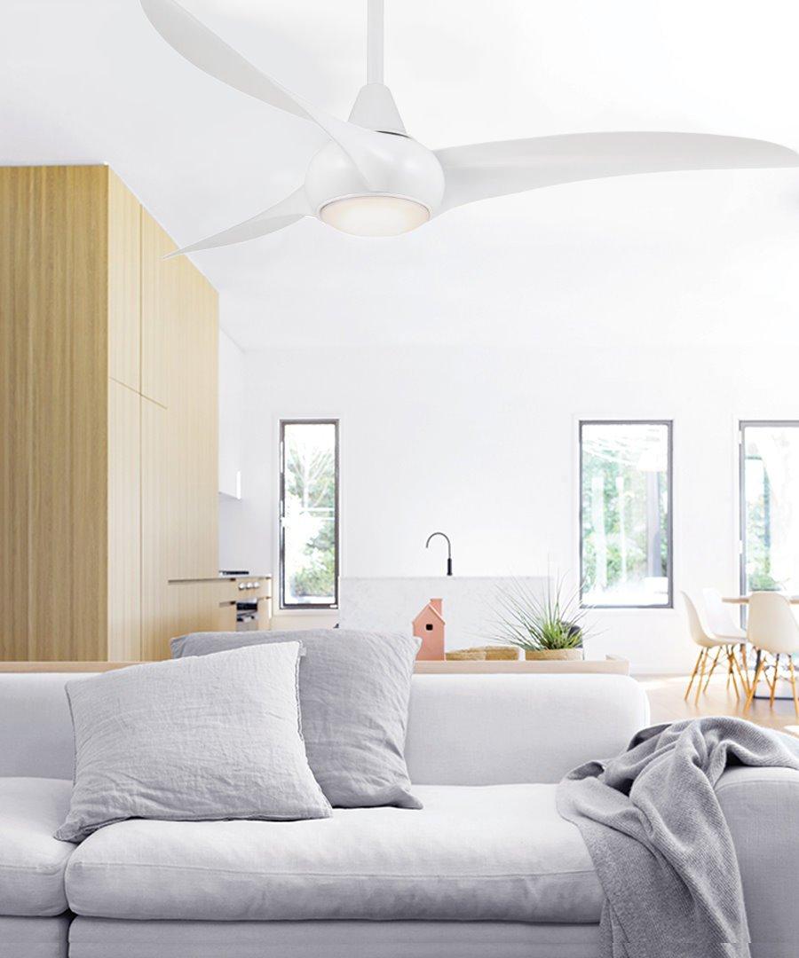wave design deckenventilator 132 cm weiss mit licht 429 0. Black Bedroom Furniture Sets. Home Design Ideas