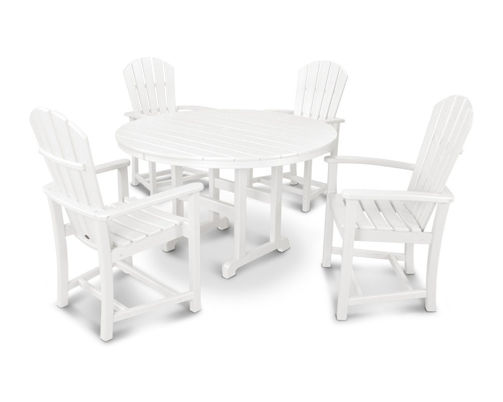 dining set with table 122 cms 4 arm chairs hdpe plastic lumber whi. Black Bedroom Furniture Sets. Home Design Ideas