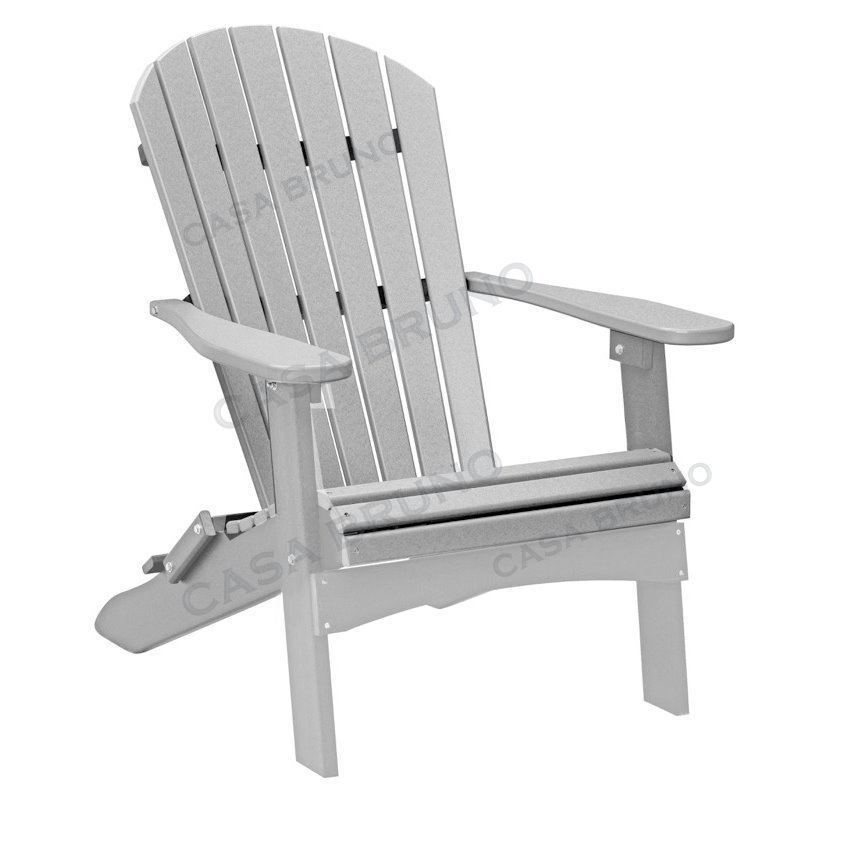Grey adirondack chairs plastic chairs seating for Sessel gross