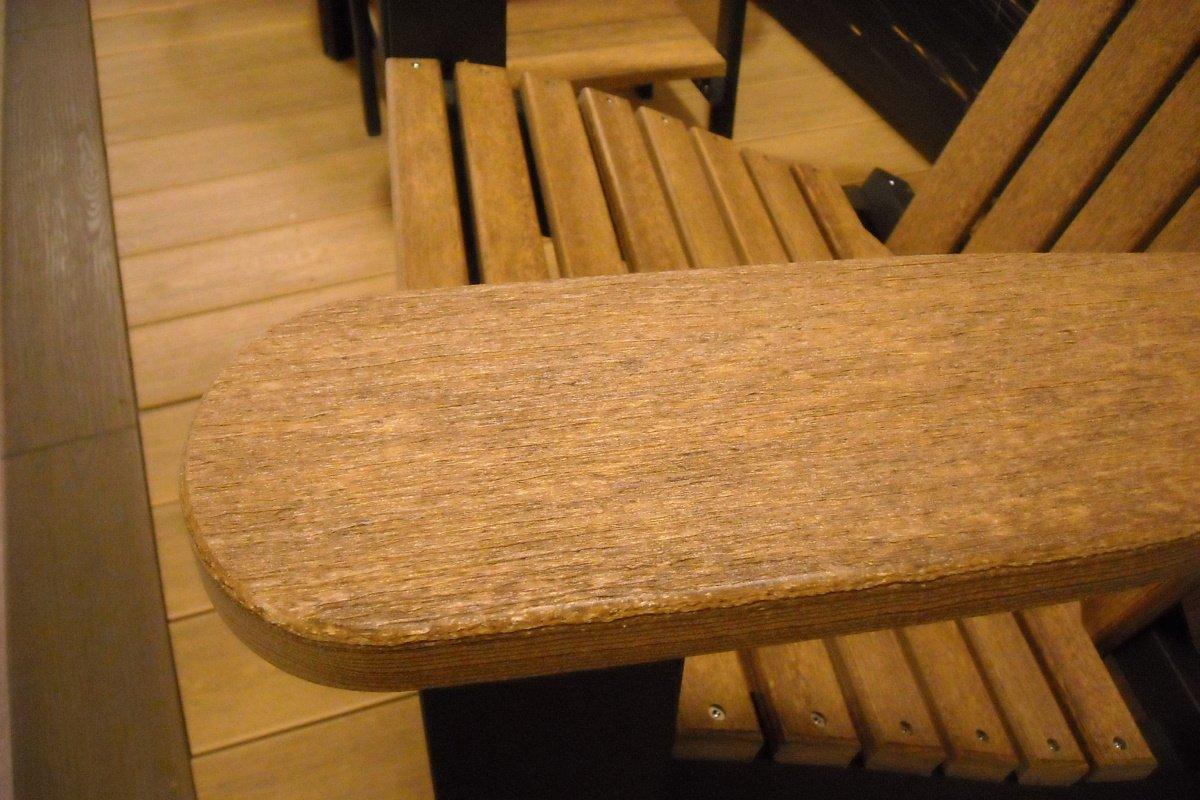 ... Alabama Oversized Adirondack Chair, Foldable, HDPE Plastic Lumber, Antique  Mahogany Natural Finish ...