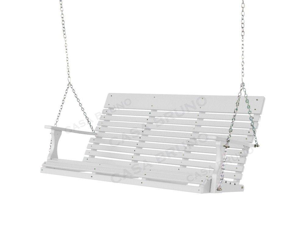 Savannah Hängeschaukel 160 cm breit, HDPE Kunststoff, weiss, mit Aufhängekette