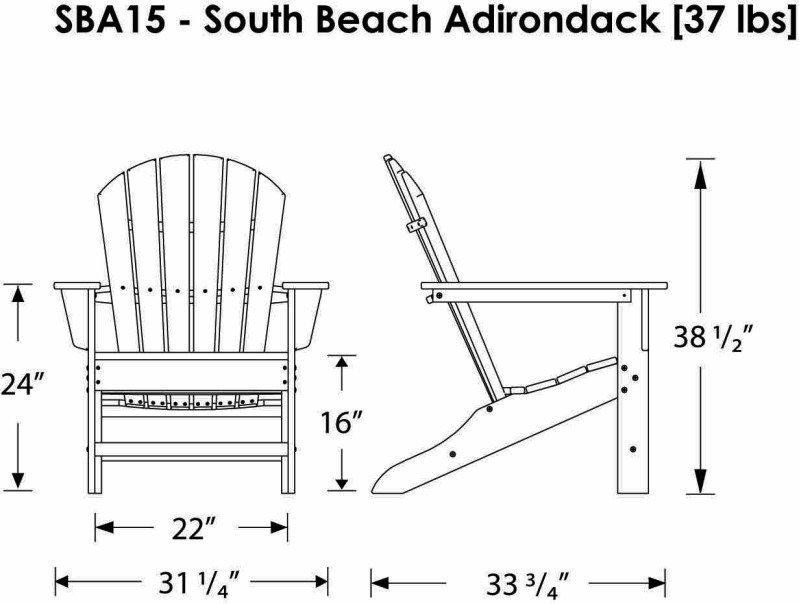 South Beach Adirondack Chair Alsterstuhl Mahagoni Braun