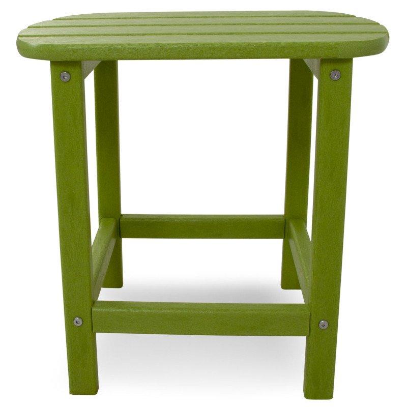 Beistelltisch aus polywood limettengr n casa bruno for Beistelltisch kunststoff