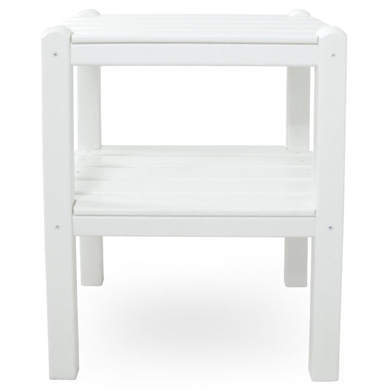 beistelltisch aus polywood weiss casa bruno. Black Bedroom Furniture Sets. Home Design Ideas