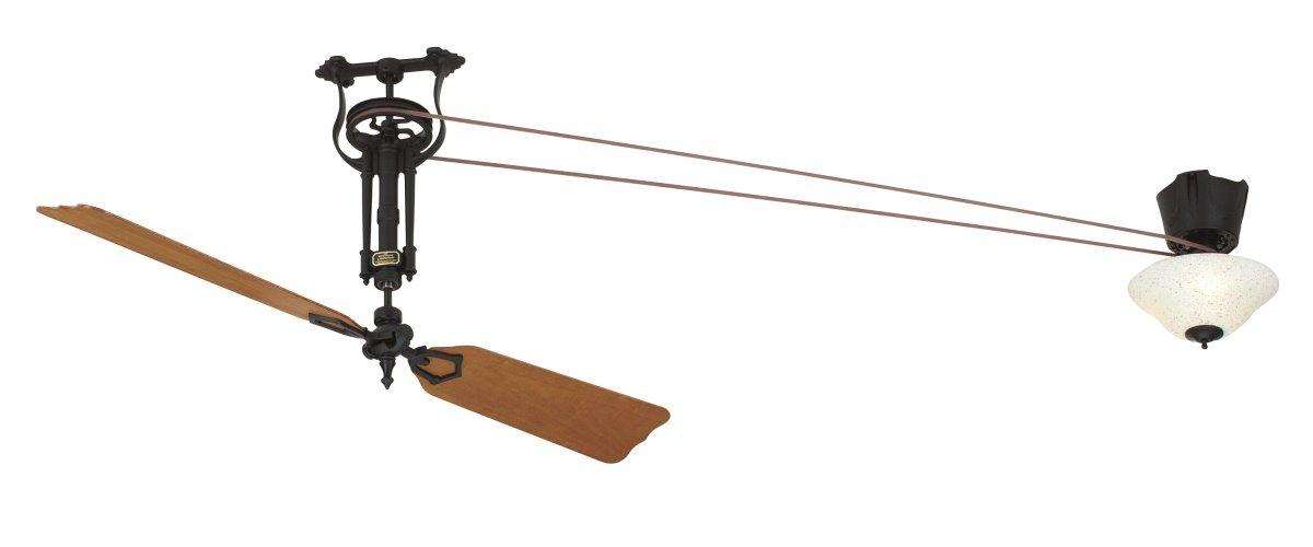 brewmaster deckenventilator long neck black mit beleuchtung. Black Bedroom Furniture Sets. Home Design Ideas