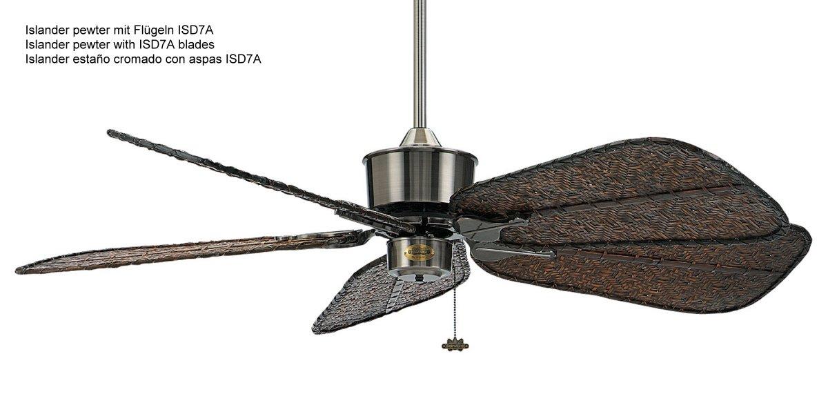 Islander ceiling fan pewter isd7a 70900 casa bruno ceil islander ceiling fan pewter isd7a aloadofball Choice Image