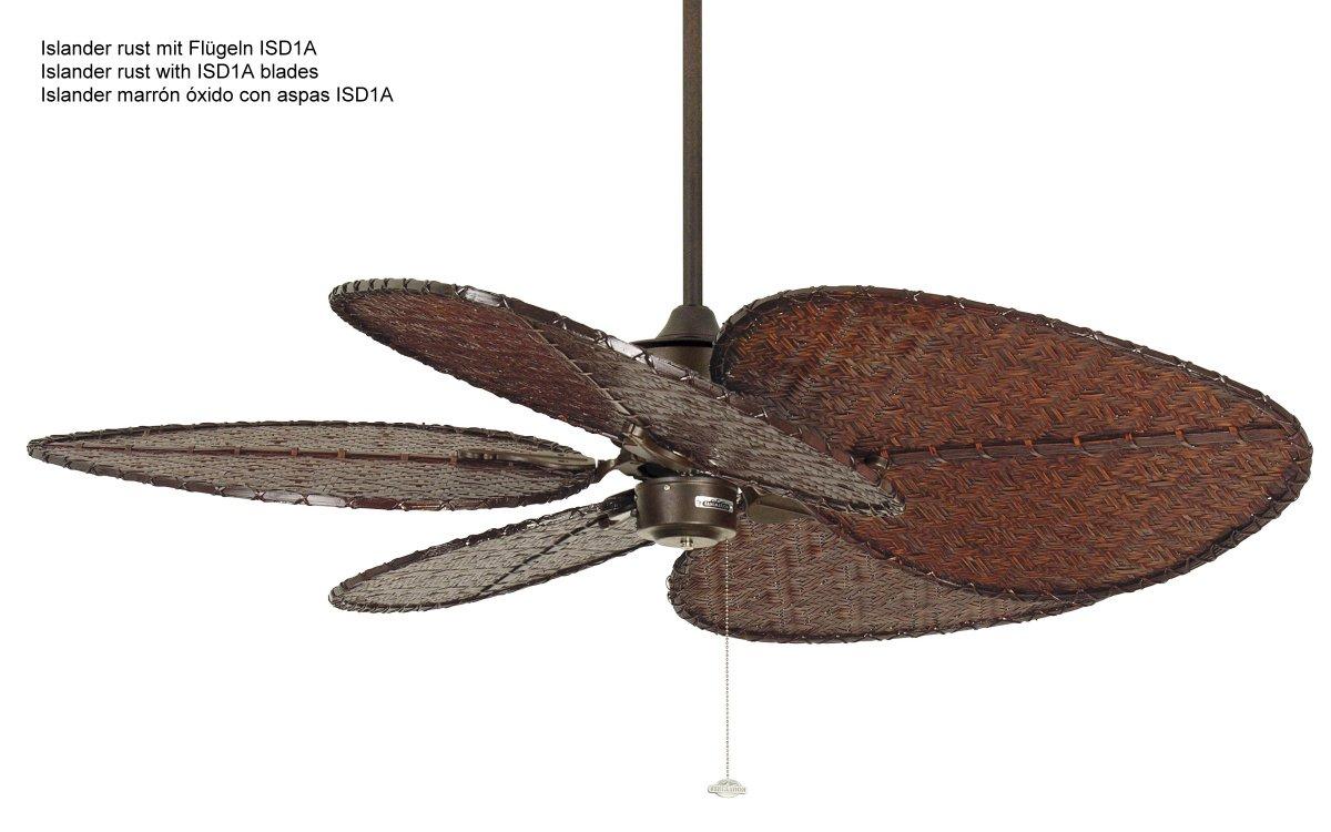 Islander ventilador de techo marr n xido isd1a 709 for Ventilador techo bricodepot