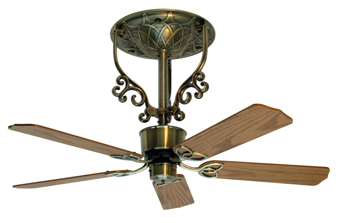 Americana Ceiling Fan Antique Brass Short 2 388 00