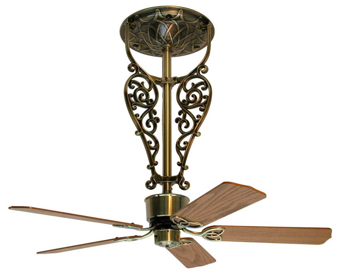 Americana ceiling fan antique brass long 255900 casa bru americana ceiling fan antique brass long aloadofball Image collections