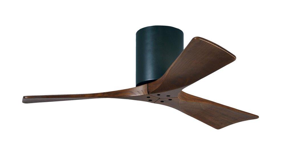 Great Irene Hugger DC Ceiling Fan Ø 107 Cm, Black, 3 Wooden Blades