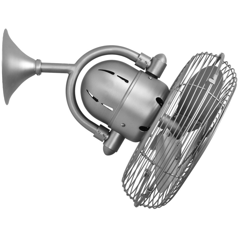 Kaye Oscillating Wall Mount And Ceiling Fan Brushed Nickel