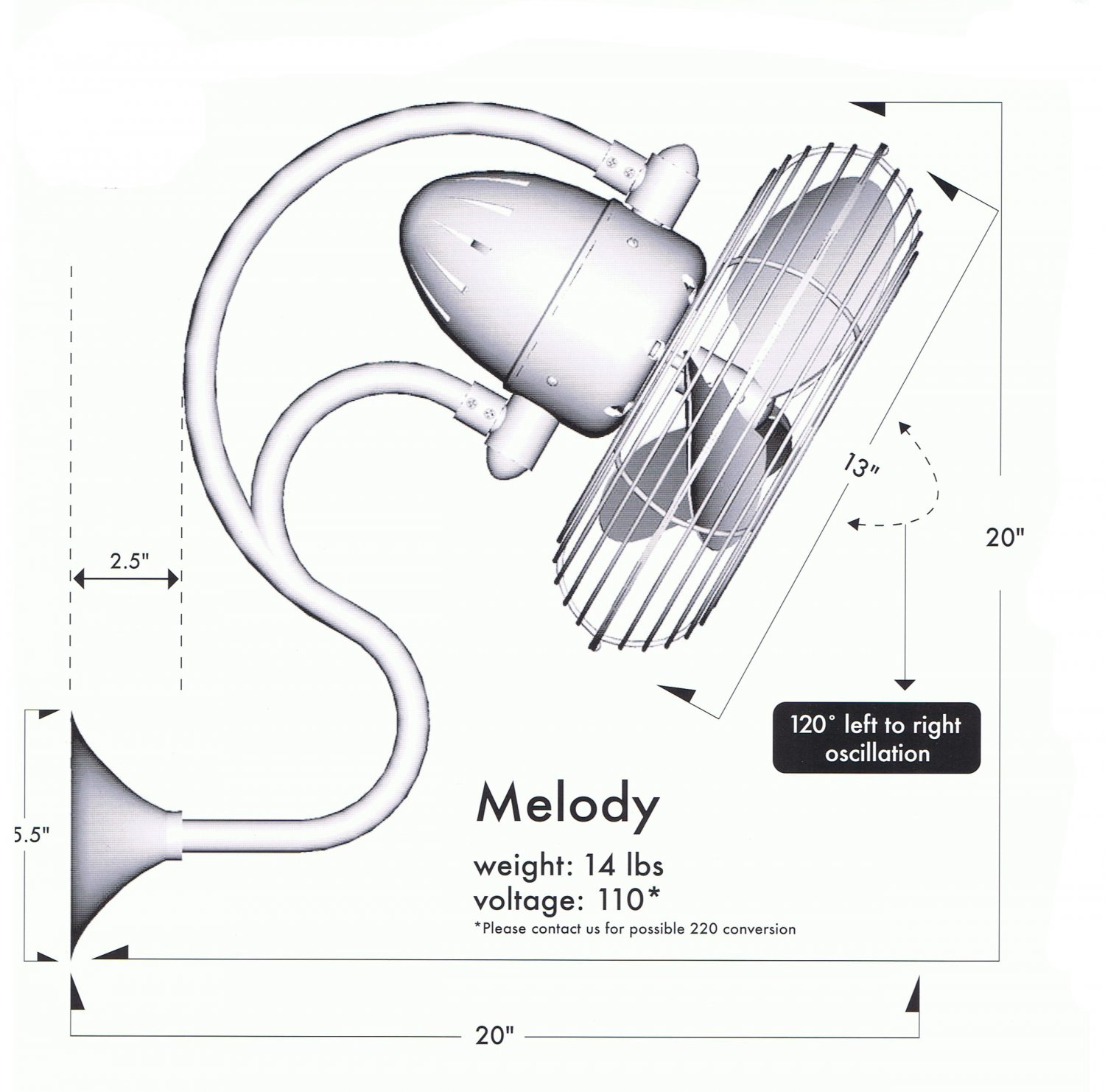 melody oscillating wall