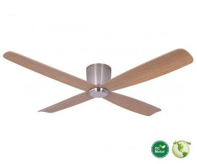 Fraser hugger dc ventilador de techo 132 cm cromo cepillado - Ventilador bajo consumo ...