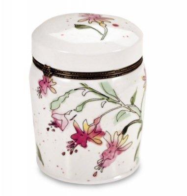 honeysuckle lime blossom duftkerze in einer romantischen keramikdose. Black Bedroom Furniture Sets. Home Design Ideas